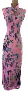Pink Floral Maxi Dress by Marchesa Voyage Asian Style