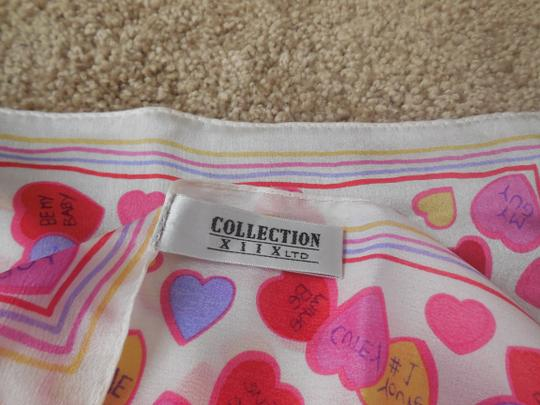 Collection XIIX Ltd Valentine Conversation Hearts Silk Scarf
