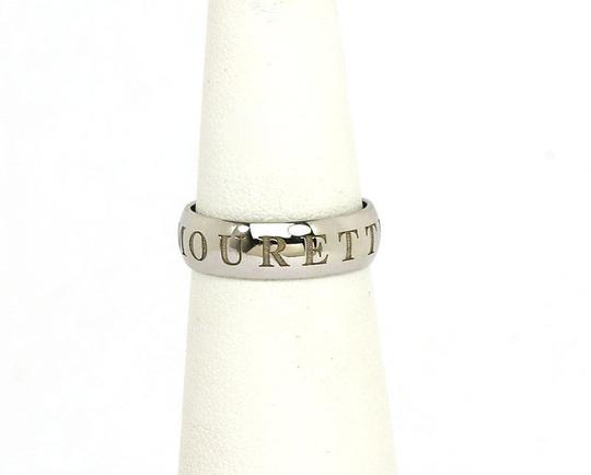 Cartier Cartier 18k White Gold 'OR AMOURET' Logo Band Ring - Size 45 (US 6)