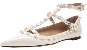 Valentino Leather Studded Ivory NWT 36.5 $75 off with SUMMER75!! Flats