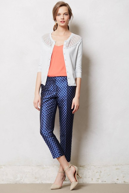 Anthropologie Capri/Cropped Pants Blue