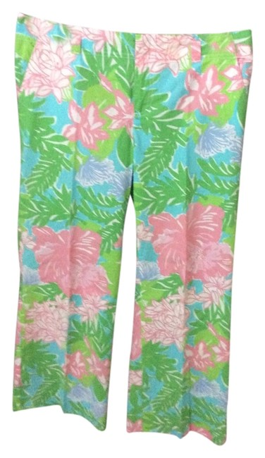 Item - Pink and Green Floral Summer Collection Pants Size 10 (M, 31)