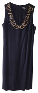 A.B.S. by Allen Schwartz V-neck Shift Beaded Dress