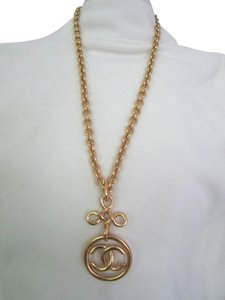 Chanel Authentic Vintage Chanel Gold CC Chain Pendant Necklace