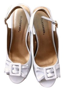 Classified Slingback Wedge white Wedges