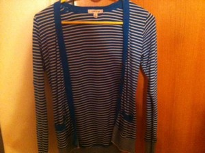 Forever 21 Sweater Stripes Fall Autumn Winter Cardigan
