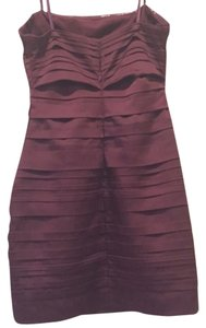 BCBGMAXAZRIA Strapless Gifts For Her Mini Burgundy Dress