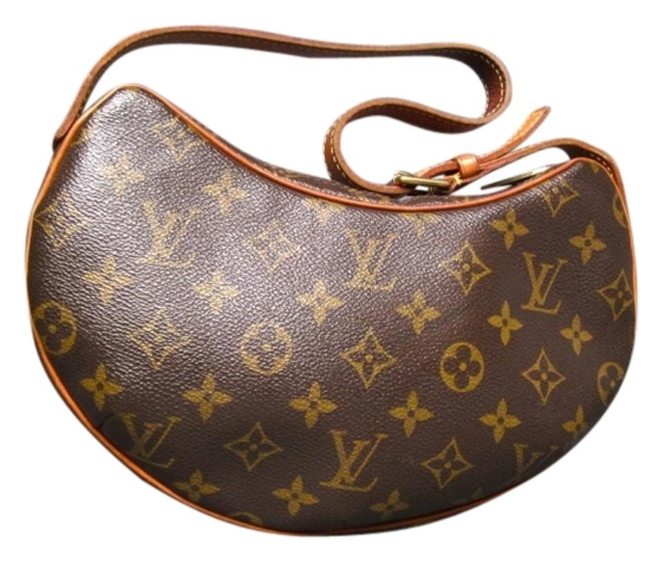 c36e83c58e5d Louis Vuitton Croissant Pm Handbag Brown Monogram Canvas Shoulder ...