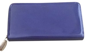 Furla Purple Blue Zip Around Continental Wallet