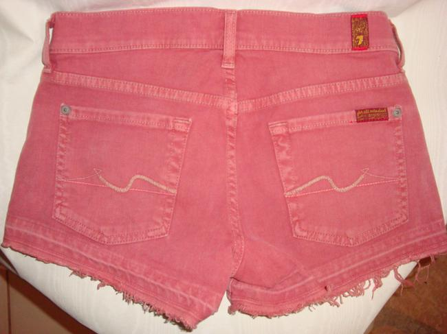 7 For All Mankind Mini/Short Shorts Brick Red