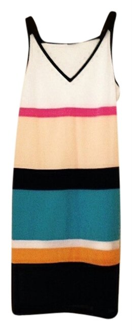 DKNY short dress Multi Silk And Mesh Stripes New With Retail Tag $395 on Tradesy