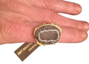 AJS Design Studio Beautiful druzy style cocktail ring is adjustable