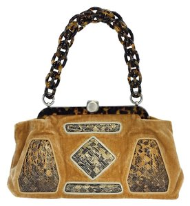 Bottega Veneta Velvet Tortoiseshell Embelished Handbag Hobo Bag
