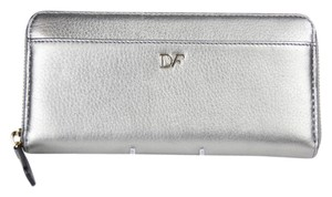 Diane von Furstenberg Wallet Date Night Silver Clutch