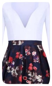 short dress White & Floral Mini Flowers Cocktail on Tradesy