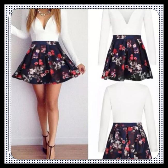 Other short dress White & Floral Mini Flowers Cocktail Night Out A-line on Tradesy