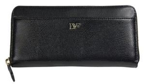 Diane von Furstenberg Wallet Night Out Black Clutch