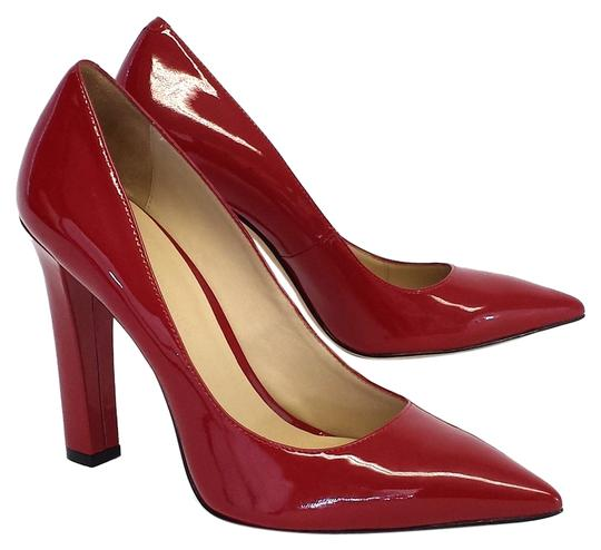 Elizabeth and James Vino Patent Leather Pointed Toe Pumps