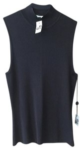 BCBGMAXAZRIA Bcbg Studio Mock Sleeveless Brown Sweater