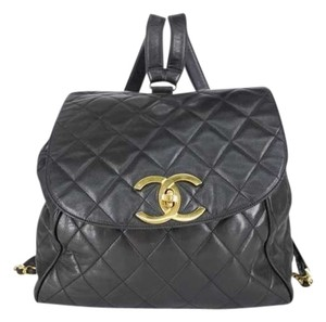 Chanel Quilted Lambskin Pack Cc Logo Backpack