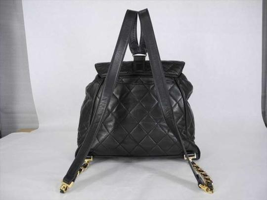 Chanel Quilted Lambskin Cc Logo Backpack