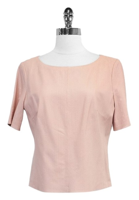 Chaiken Blush Perforeated Leather Top
