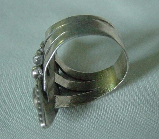 Other Vintage Native American Indian Silver and Turquoise Ring Size 7 1/4--7 1/2