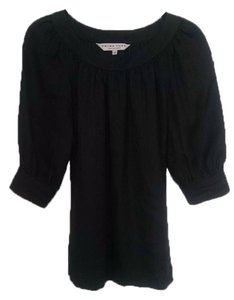 Trina Turk Top Black Textured Silk