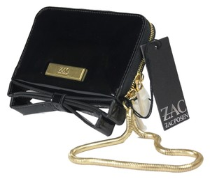 Zac Posen Patent Leather Patent Evening Wristlet in Black