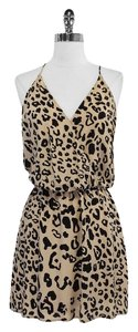 Rory Beca short dress Beige And Black Leopard Print Silk on Tradesy
