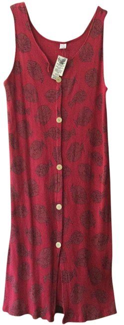Maxi Dress by Cow & Lizard Red Pink Cotton Sleeveless Nwt
