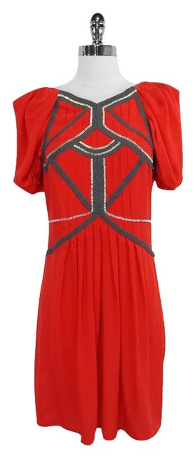 Preload https://item2.tradesy.com/images/bcbgmaxazria-silk-red-silk-embellished-dress-3557161-0-0.jpg?width=400&height=650
