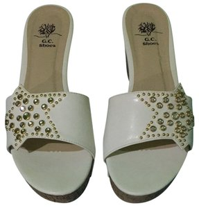 GC Shoes White Platforms
