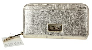 Badgley Mischka Hardware Evening Gold Clutch