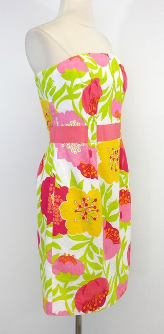 Lilly Pulitzer short dress Vanessa Floral Print Cotton Strapless on Tradesy