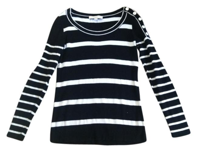 Preload https://item2.tradesy.com/images/ann-taylor-loft-black-and-white-strips-sweaterpullover-size-4-s-3557986-0-0.jpg?width=400&height=650