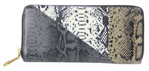 Marc by Marc Jacobs Print Wallet Zip Around Darkest Grey Multi Clutch