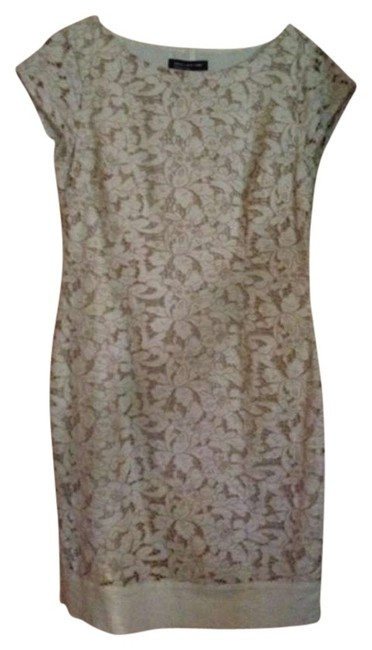 Jones New York short dress Beige eyelet on Tradesy