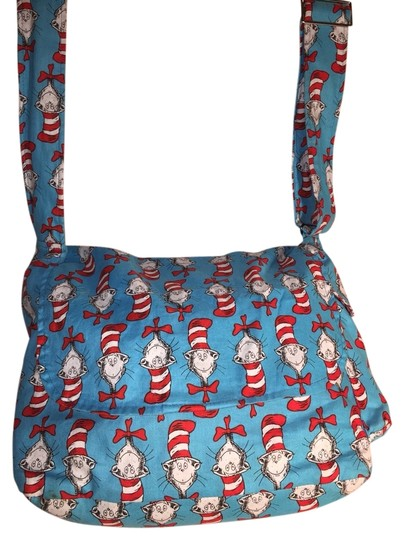 Preload https://item3.tradesy.com/images/cat-in-the-turquoise-red-and-white-cotton-messenger-bag-3558472-0-0.jpg?width=440&height=440