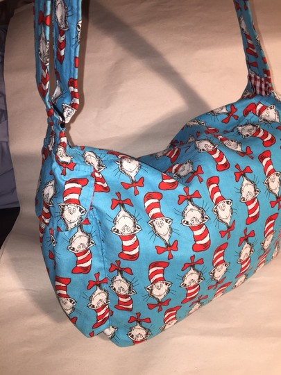 Other turquoise red & white Messenger Bag