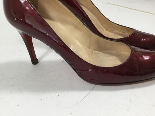 Christian Louboutin Red Bottoms Burgundy Pumps
