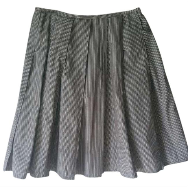 Express Skirt Black with White Pinstripes