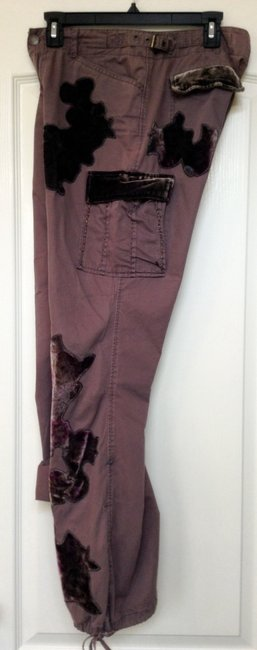 Express Cargo Pants Brownish dark rose as in picture exactly