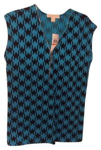 Michael Kors Top Blue and Black Pattern