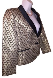 Juicy Couture metallic gold & black Blazer