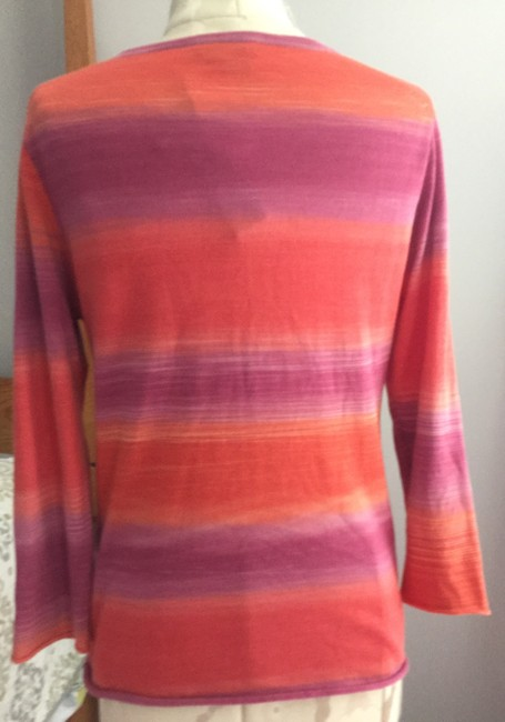 Magaschoni V-neck Pink Orange Watermelon Sweater