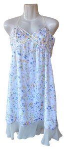 I 'Heart' Ronson short dress white, yellow, orange, blue New With Tags New Flowers Open Adjustable Straps on Tradesy