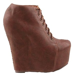 Jeffrey Campbell Platform Brown Boots