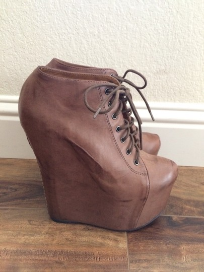 Jeffrey Campbell Platform Leather Brown Boots