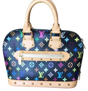 Louis Vuitton Satchel in Black Noir Monogram Multicolor